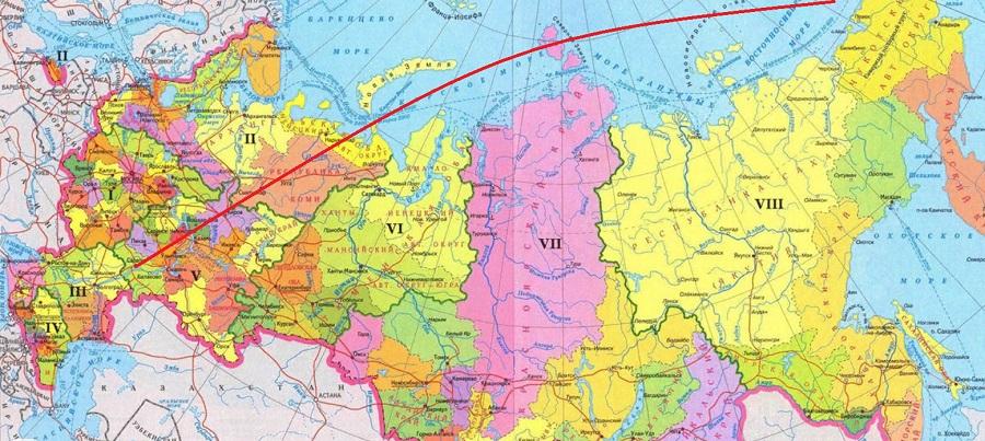 Перелет из Чукотки в Саратовскую область