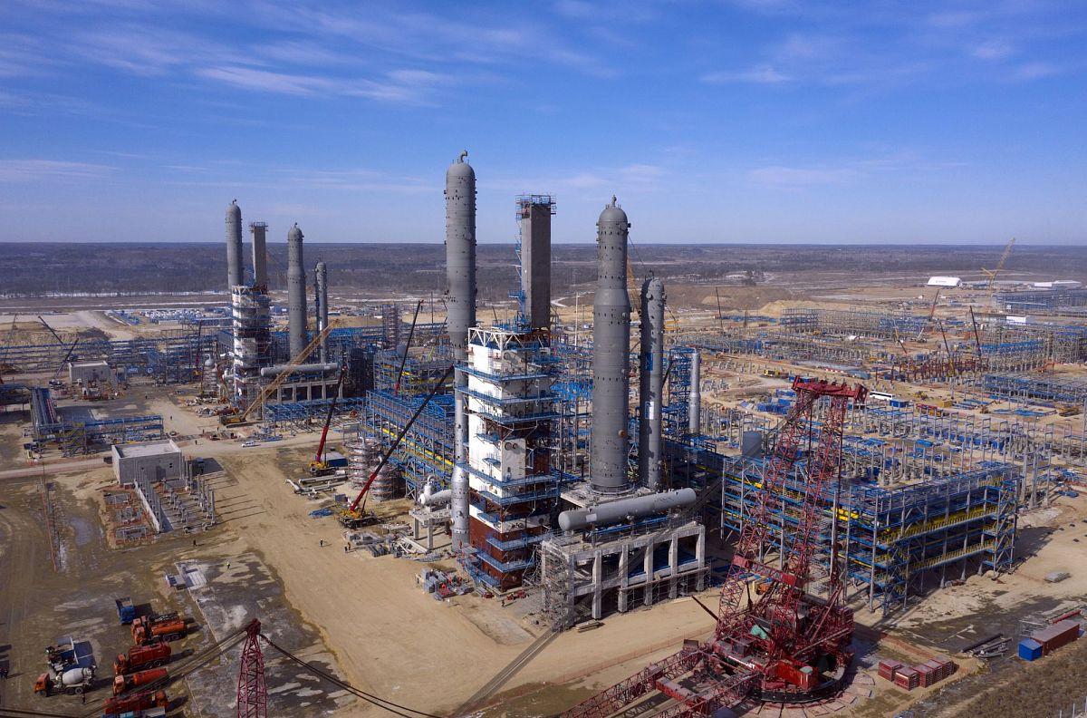 Амурский ГПЗ на пике строительства. Первый газоперерабатывающий завод на Дальнем Востоке станет одним из крупнейших в мире