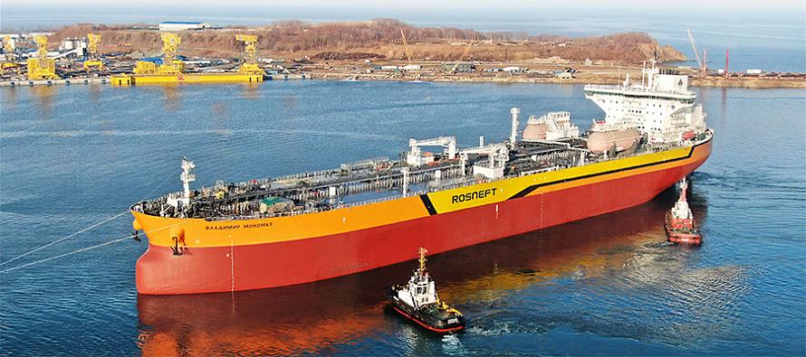 На ССК Звезда спущен на воду Владимир Мономах - первый российский танкер типоразмера Афрамакс  - Новости нефти, новости газа, новости ТЭК