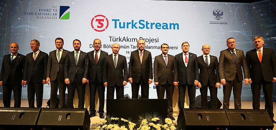 Морская часть газопровода Турецкий поток уложена. Команду на сварку замыкающего стыка 2-й нитки дали В. Путин и Р. Эрдоган
